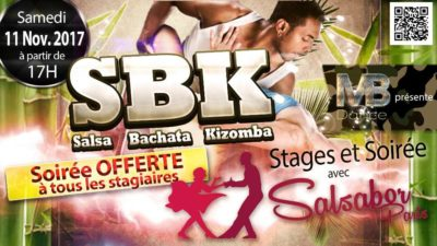 Soirée SBK – Salsa Bachata Kizomba – 11 Novembre 2017 – 17h