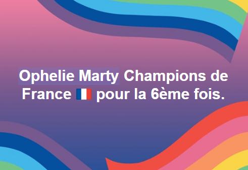 Ophelie & Marty, Champions de France pour la 6ème fois !!!