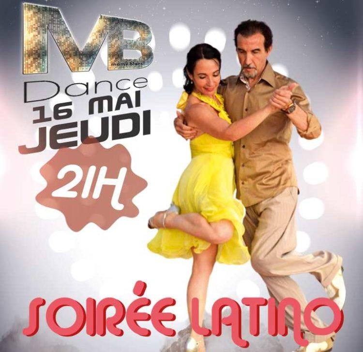16 mai – 21h Soirée Latino – 20h Stage 1H