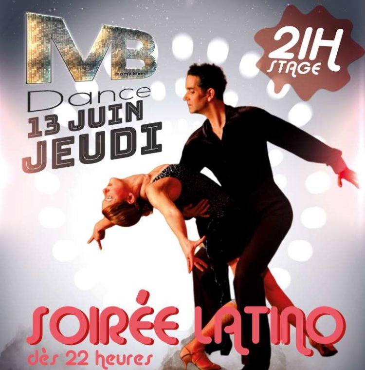 13 juin – 22h Soirée Latino – 21h Stage 1H