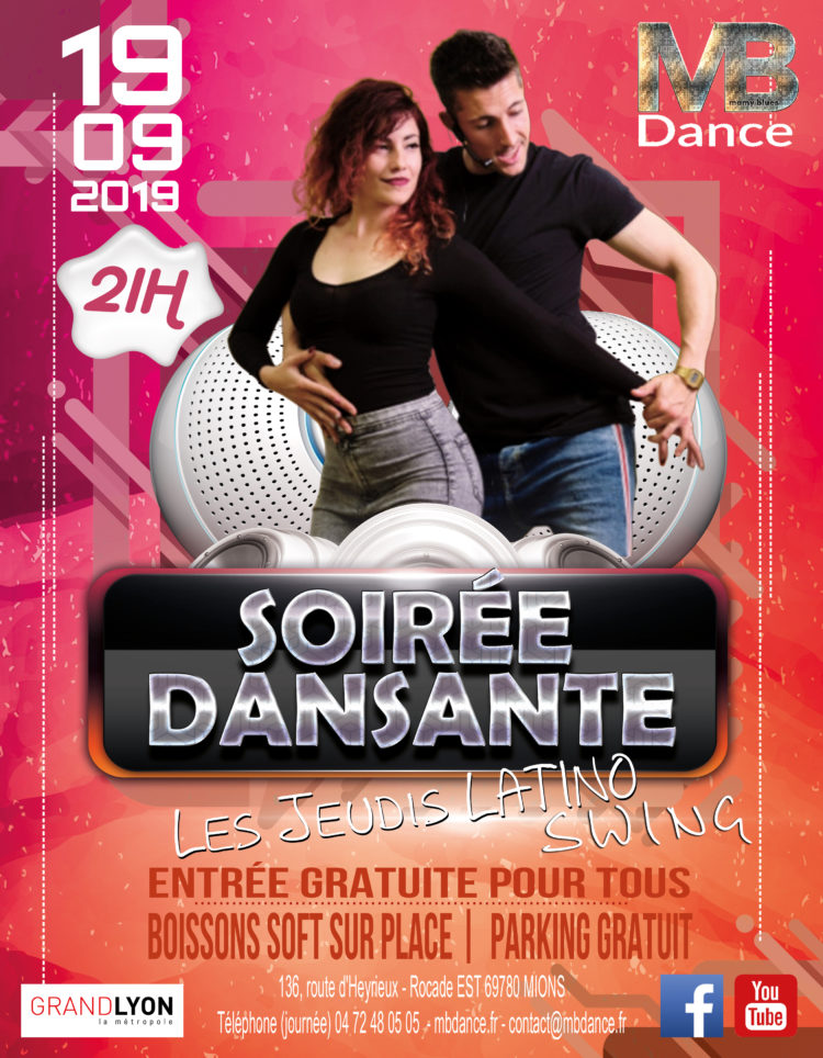 19 Septembre – 21h Soirée LATINO SWING – 21h Stage 45 min